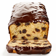 Banana Bread With Chocolate Chips and Chocolate Glaze