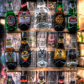 Clocks by Greg Brzezicki - Artistic Objects Technology Objects ( time, wood, colors, bottles, clocks,  )