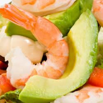 Marinated Shrimp in Avocado Halves