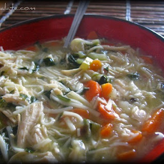 Warm Homestyle Chicken Noodle Soup and Giveaway!!