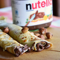 Nutella stuffed Crepes