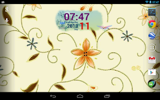 Screenshot of Autumn Digital Clock Widget