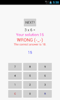 Screenshot of Times Tables Trainer Lite