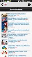 Screenshot of CANADAVISA