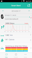 Screenshot of smart band