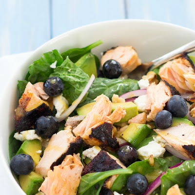 Salmon Power Salad with Honey-Dijon Vinaigrette