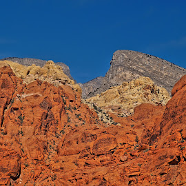 Mountains of Color by Luanne Bullard Everden - Landscapes Mountains & Hills ( mountains, nevada, red rock, landscapes, canyons, rocks )