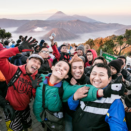 At Bromo Mountain  by Lefri Kristianto - People Group/Corporate
