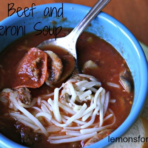 Italian Beef and Pepperoni Soup