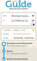Screenshot of Paris metro subway guide