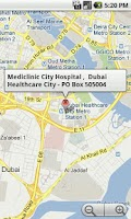 Screenshot of Mediclinic Middle East