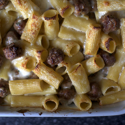 Baked Rigatoni with Tiny Meatballs
