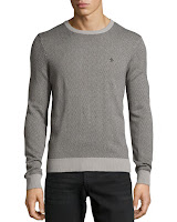Penguin Herringbone Knit Crewneck Sweater, Griffin - (SMALL)