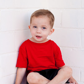Jax, Don't Sit There! by Larry Welch - Babies & Children Child Portraits