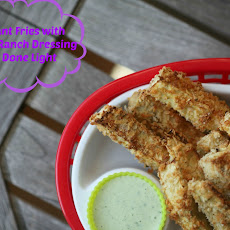 Eggplant Fries with Boursin Ranch Dressing