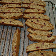 Cranberry Biscotti With Chocolate