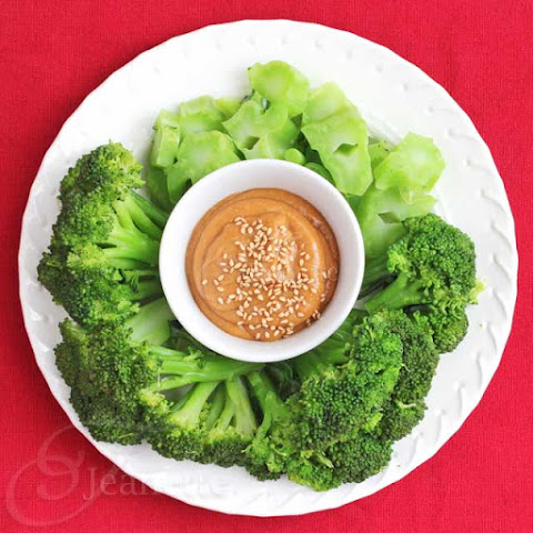 Steamed Broccoli with Miso Peanut Butter Sauce (Power Foods)