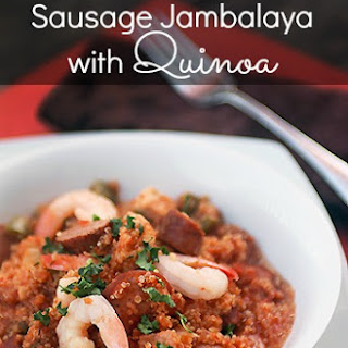 Chicken, Shrimp and Sausage Jambalaya with Quinoa