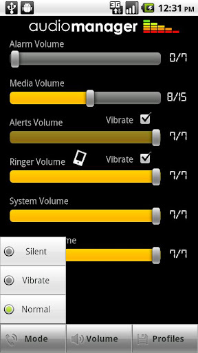 audiomanager-skin-slidey for android screenshot
