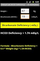 Screenshot of Clinical Lab (HCO3 Deficiency)