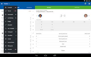 Screenshot of LiveScore SofaScore