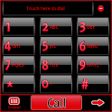 GO Contacts Black & Red Theme icon