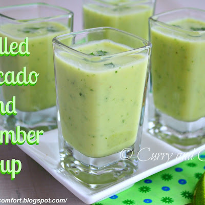 Chilled Avocado and Cucumber Soup Shooter
