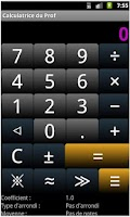Screenshot of Calculatrice de prof