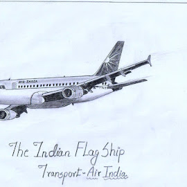 Air India Airbus a320 by Gowshath Varun - Drawing All Drawing ( transport, airplane, aircraft, indian, jet )