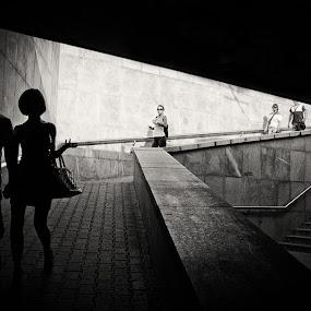 Sofia underground by Mariyan Russev - Black & White Street & Candid ( black and white, street, digital, murski,  )