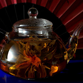Tea Time I by Isa Pat - Food & Drink Alcohol & Drinks ( tea, blossom, flower )