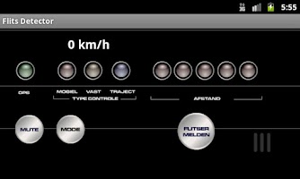 Screenshot of Flits detector