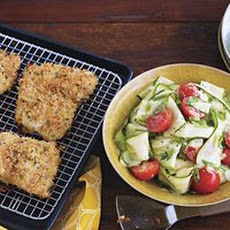 Crispy Fish with Shaved Zucchini Salad