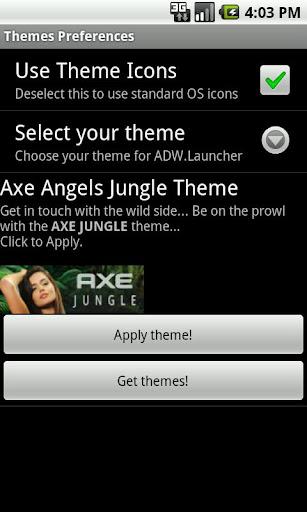 Axe Angel Jungle Theme