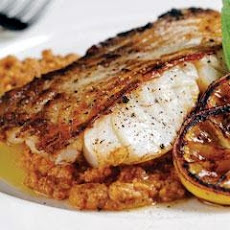 Grilled Cod With Romesco Sauce