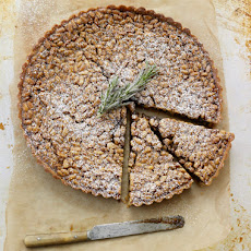 Pine Nut Tart with Rosemary Cream