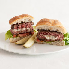 Herbed Cheese-Stuffed Burgers