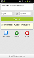 Screenshot of Traductor