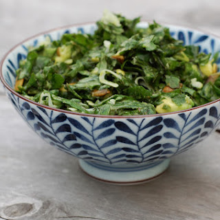 Lemony Kale Salad with Avocado-Coconut Dressing