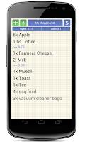 Screenshot of Shopping Grocery List + Widget