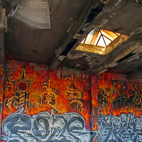 Abandoned Berkeley warehousegraffiti #1 by Suzanne Black - Buildings & Architecture Decaying & Abandoned