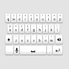 White Galaxy Keyboard Skin icon