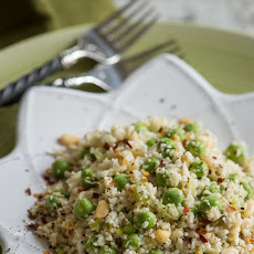 Cauliflower Rice with Fresh Peas and Cumin