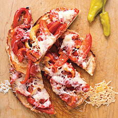 Provolone and Roasted Pepper Crisps