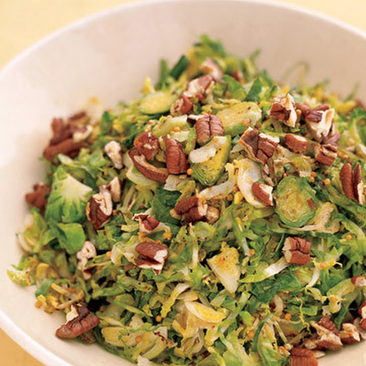 Shredded Brussels Sprouts with Pecans and Mustard Seeds Recipe ...