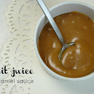 Fruit Juice Caramel Sauce