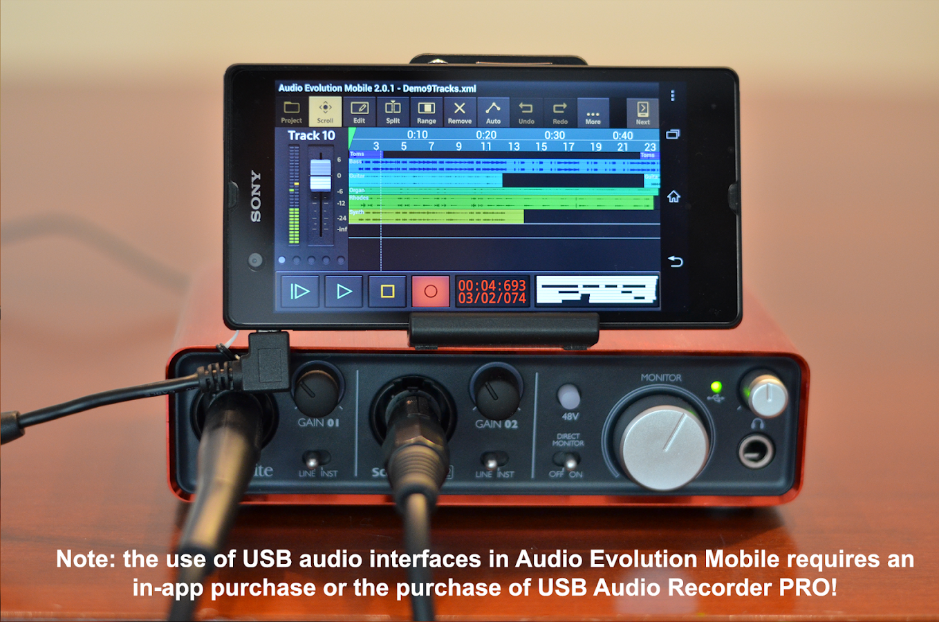 Audio Evolution Mobile Studio Screenshot 3