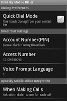 Screenshot of Dynasky Mobile Dialer
