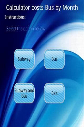 Bus and Subway Calculator