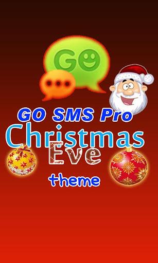 GO SMS Pro Christmas Eve theme
